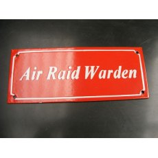 Enamel Sign (Air Raid)