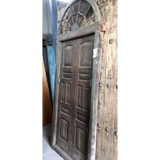 Pair of Large Teak Doors with Arched Top
