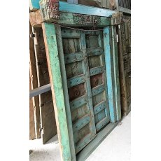 Pair of Gothic Style Teak Doors