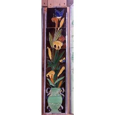 Fireplace Tile Set (Irises)