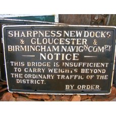 Cast Iron Sign (Sharpness New Docks)