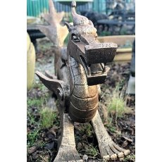 Large Cast Iron Oriental Dragon Statue