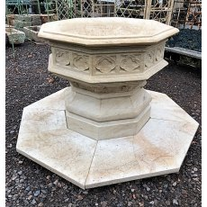 Hand Carved Stone Font