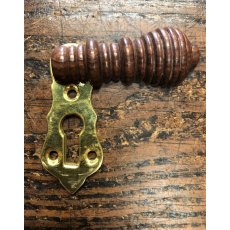 Wooden Beehive Escutcheon (Brass Back Plate)