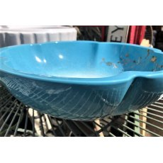 Scalloped Edge Porcelain Sink (Blue Floral)