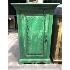 Small Green Teak Cupboard