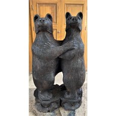 Carved Wooden Hugging Bears