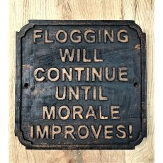 Wooden Sign (Flogging)