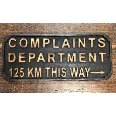 Wooden Sign (Complaints)