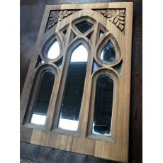 Carved Decorative Mirrored Panel (Small)