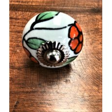 Ceramic Cupboard Knob (Orange & Green)