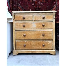 Late Victorian Pine Chest of Drawers