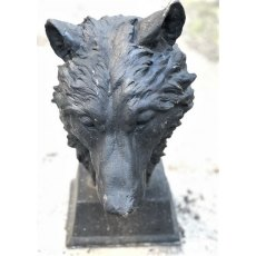 Cast Iron Wolf Head