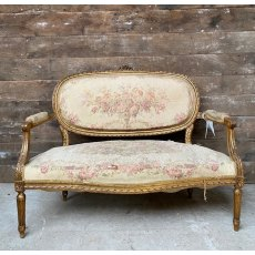 Vintage French Salon Sofa