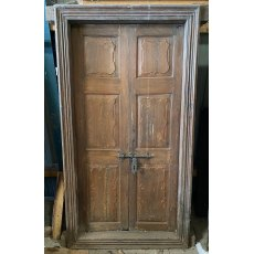 Framed reclaimed teak doors