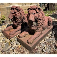 Cast Iron Lion Statues
