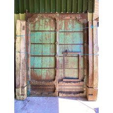Impressive teak Indian fort doors