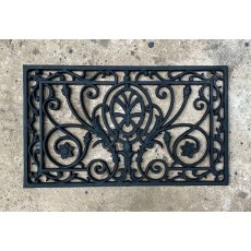 Cast Iron Door Mat (Leaf Swirl)