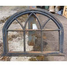 Arched cast iron window frames