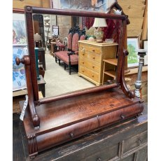 Large Victorian Mahogany swing mirror