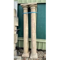 Carved natural stone columns