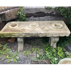 Carved stone Indian spices table