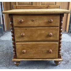 Decorative Victorian Pine chest of drawers