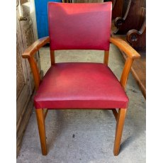 Vintage 70's red upholstered chair