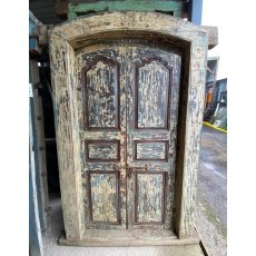 Rustic painted framed Teak doors