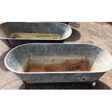 Vintage Galvanised Baths