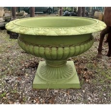 Very Large Green Cast Iron Urn