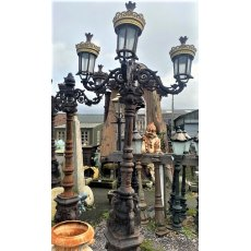 Ornate Cast Iron Four Arm Lamp Post (Gold)