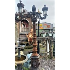 Ornate Two Arm Cast Iron Lamp Post