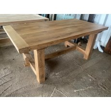 Rustic Oak Refectory Table (1.8m x 1m)