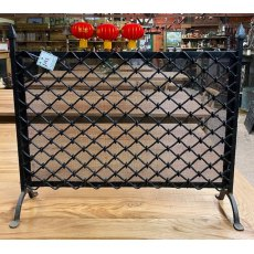 Handmade wrought iron fire screen