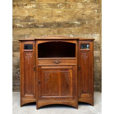 Art Nouveau 1890's Oak drinks cabinet