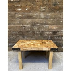 Block top coffee table