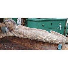 Hand Carved Mermaid Statue (Reclining)