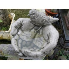 Cupped Hands Bird Bath
