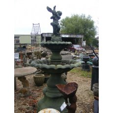Cast Iron Fountain (Cherub & Bird)