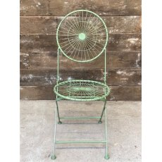 Folding Wire Garden Chair