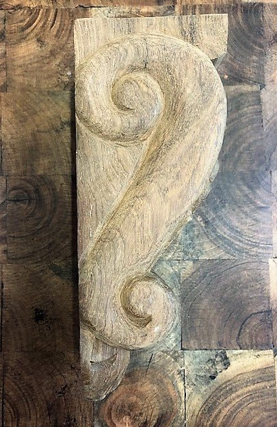 Wooden Corbel (Acanthus Scroll)
