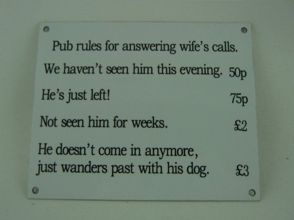Enamel Sign (Pub Rules)