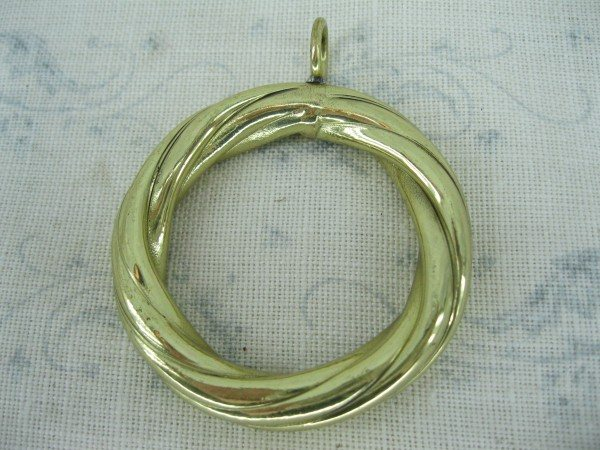 Brass Curtain Ring (Twisted)