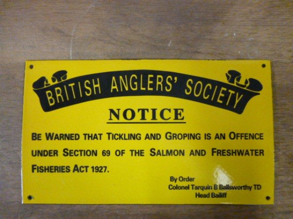 Enamel Sign (British Angler Society)