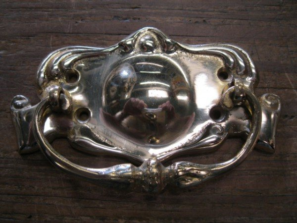 Brass Plate Handle (Scroll)