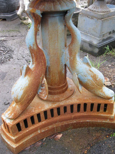 Two Tiered Cast Iron Fountain with Cherubs