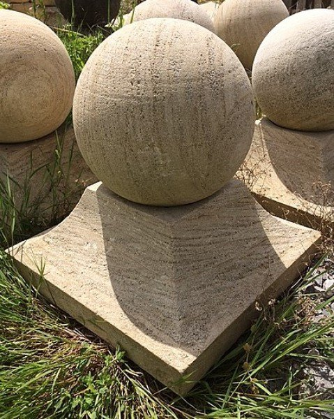 Pier Caps (Ball Finial with Square Base)