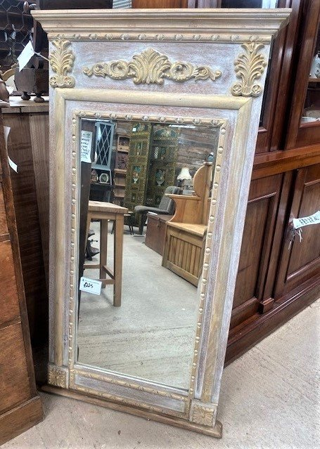 Carved Teak Mirror