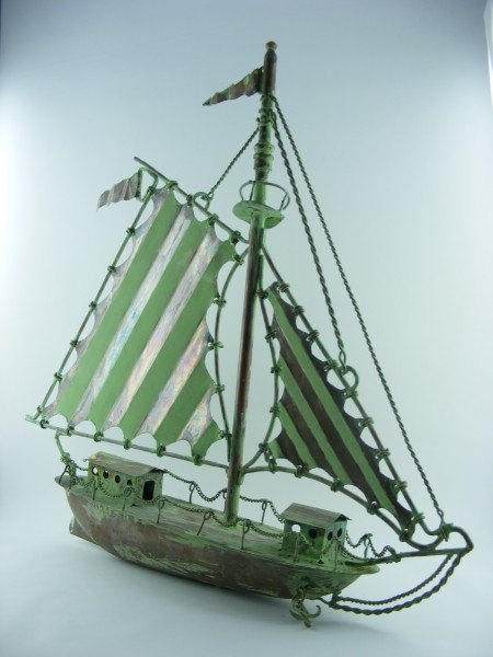 Stripy Sailboat Weathervane